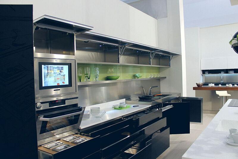 Arca Cucine Italia Cucine Domestiche Acciaio Inox Trend Nera 1872 020