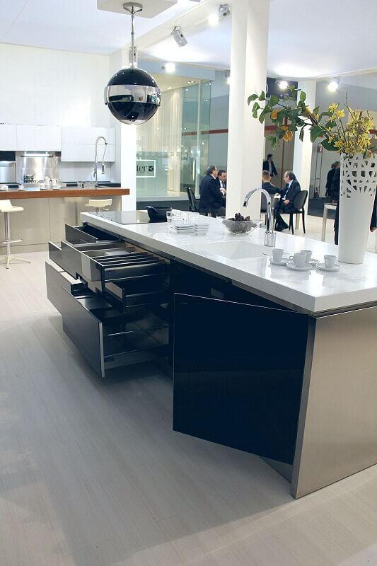 Arca Cucine Italia Cucine Domestiche Acciaio Inox Trend Nera 1875 017