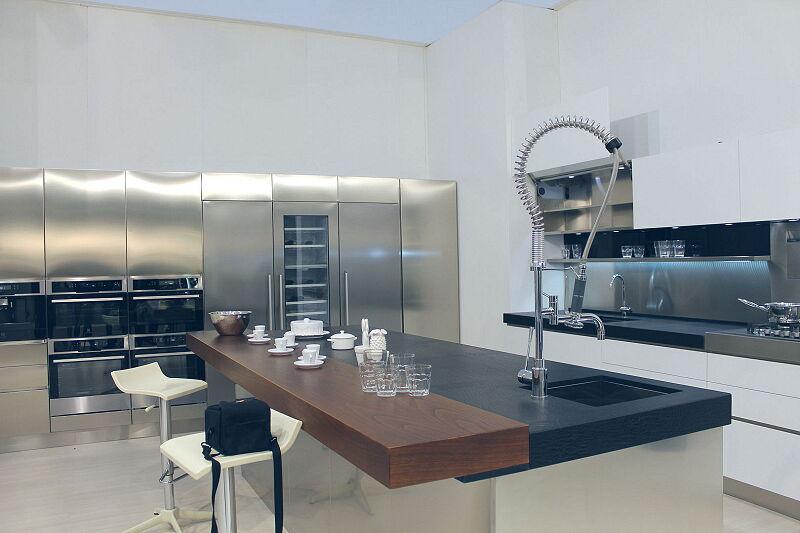 Arca Cucine Italia Cucine Domestiche Acciaio Inox Trend Vetro 1587 217