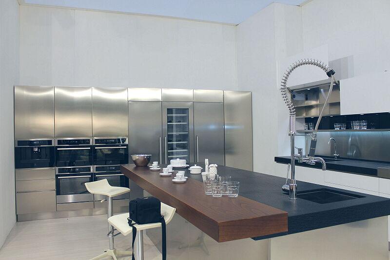 Arca Cucine Italia Cucine Domestiche Acciaio Inox Trend Vetro 1589 216