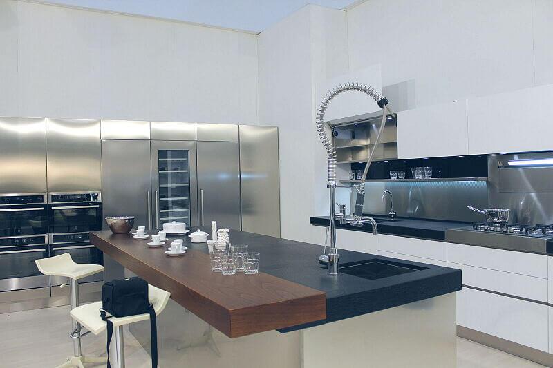 Arca Cucine Italia Cucine Domestiche Acciaio Inox Trend Vetro 1590 215