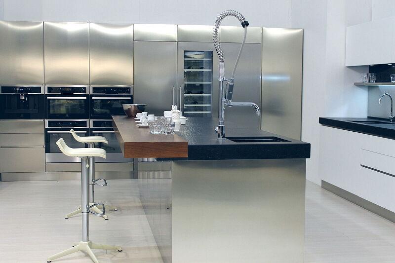 Ark Küchen italienische Küchen Milf Edelstahl Trend Glass ...