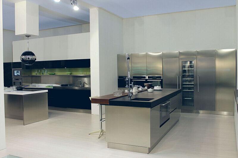 Arca Cucine Italia Cucine Domestiche Acciaio Inox Trend Vetro 1598 211