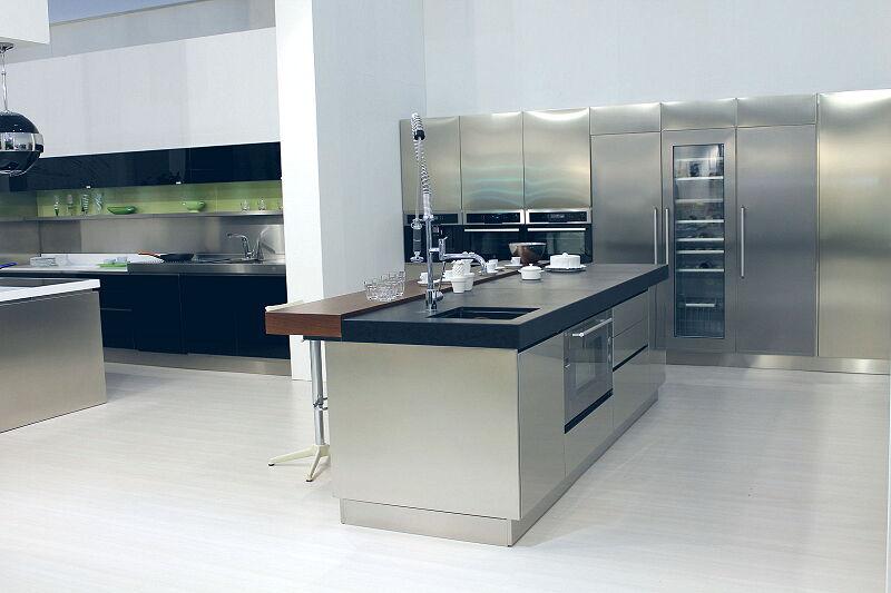 Arca Cucine Italia Cucine Domestiche Acciaio Inox Trend Vetro 1600 209