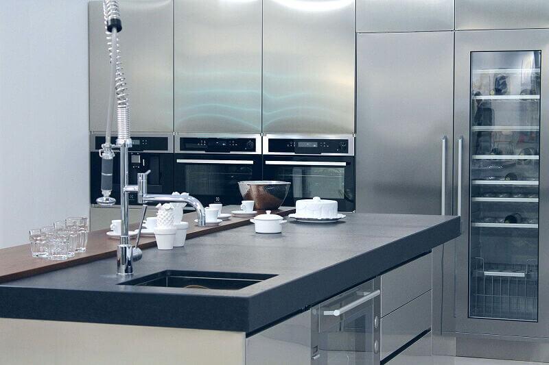 Arca Cucine Italia Cucine Domestiche Acciaio Inox Trend Vetro 1602 207