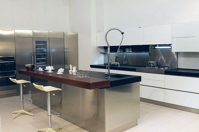 Arca Cucine Italia Cucine Domestiche Acciaio Inox Trend Vetro 1605 206