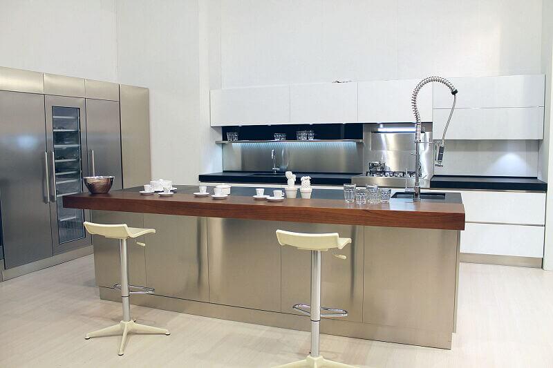 Arca Cucine Italia Cucine Domestiche Acciaio Inox Trend Vetro 1607 204