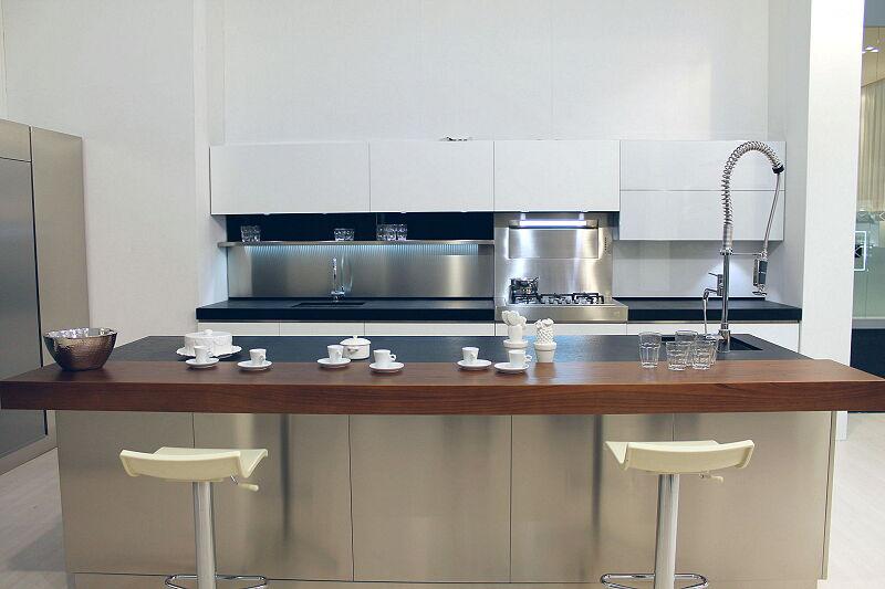 Arca Cucine Italia Cucine Domestiche Acciaio Inox Trend Vetro 1608 203