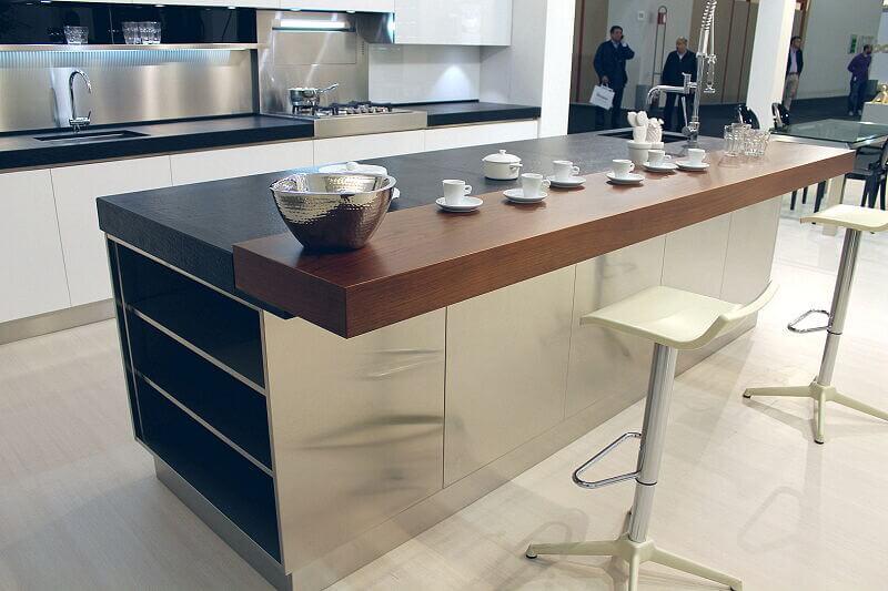 Arca Cucine Italia Cucine Domestiche Acciaio Inox Trend Vetro 1611 201