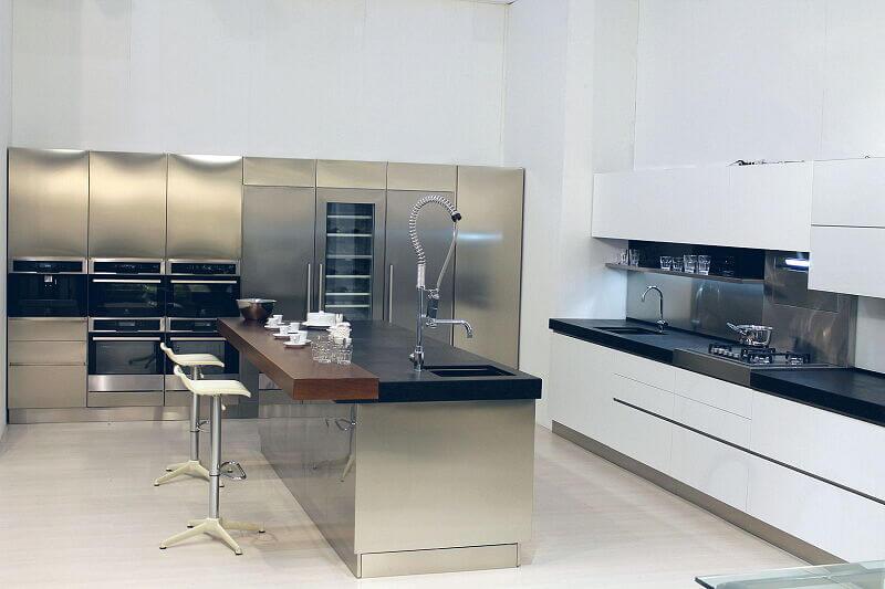 Arca Cucine Italia Cucine Domestiche Acciaio Inox Trend Vetro 1613 199