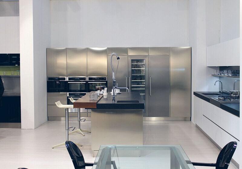 Arca Cucine Italia Cucine Domestiche Acciaio Inox Trend Vetro 1614 198