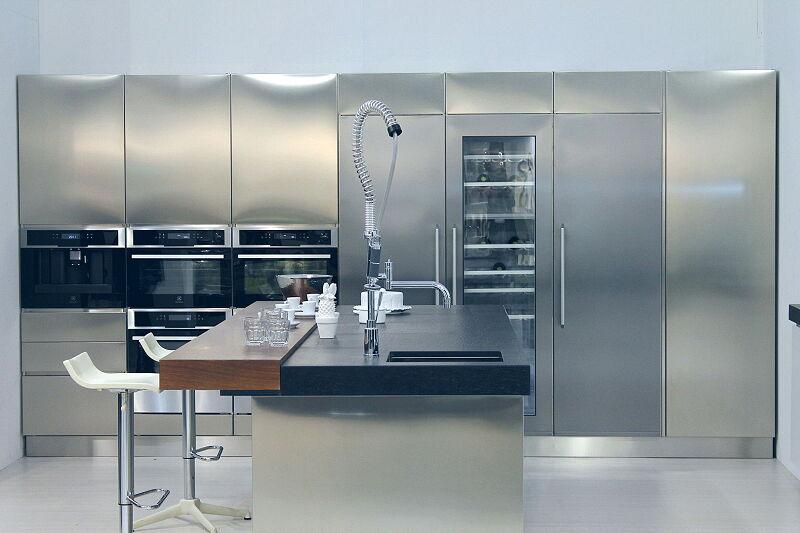Arca Cucine Italia Cucine Domestiche Acciaio Inox Trend Vetro 1615 197