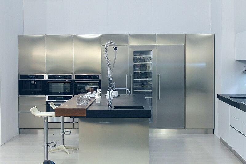 Arca Cucine Italia Cucine Domestiche Acciaio Inox Trend Vetro 1617 195