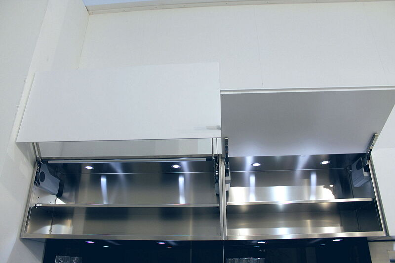 Ark Kitchens Italian Kitchens Milf Stainless Steel Trend Glass 1804 073