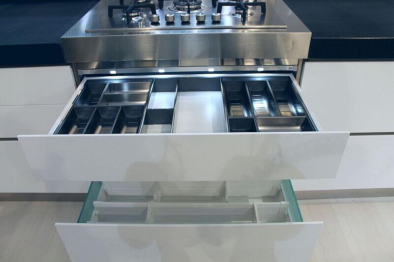 Arca Cucine Italia Cucine Domestiche Acciaio Inox Trend Vetro 1810 067