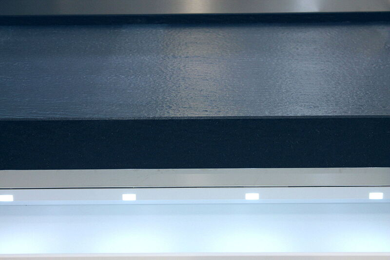 Ark Kitchens Italian Kitchens Milf Stainless Steel Trend Glass 1814 065