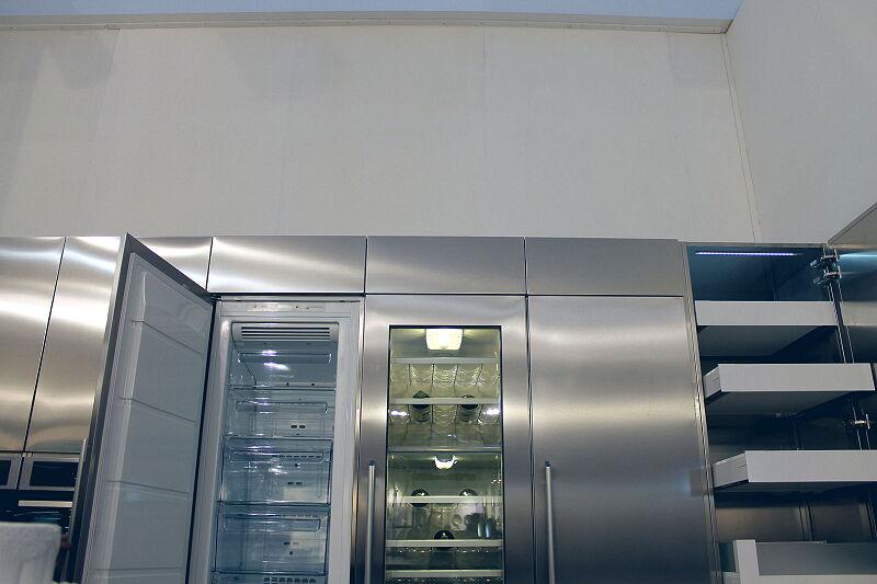 Arca Cucine Italia Cucine Domestiche Acciaio Inox Trend Vetro 1824 058
