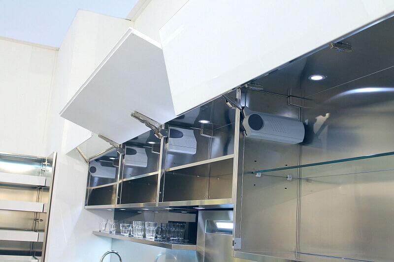 Ark Kitchens Italian Kitchens Milf Stainless Steel Trend Glass 1891 001