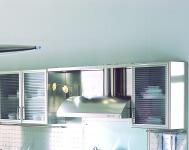 Arca Cucine Italia - Cucina Domestica in Acciaio Inox e Vetro - Wagon - Pensili e Aspirazione