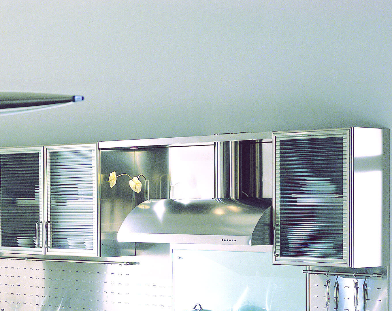 Arca Cucine Italy - Kitchen maid in Stainless Steel and Glass - Wagon - Cupboards and extraction