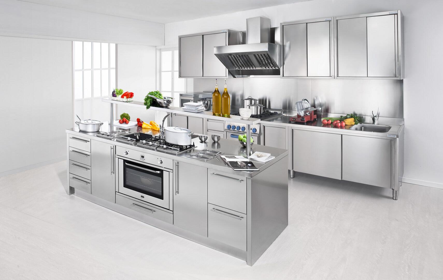 Cucine In Acciaio Per Casa - Design Per La Casa Moderna - Ltay.net