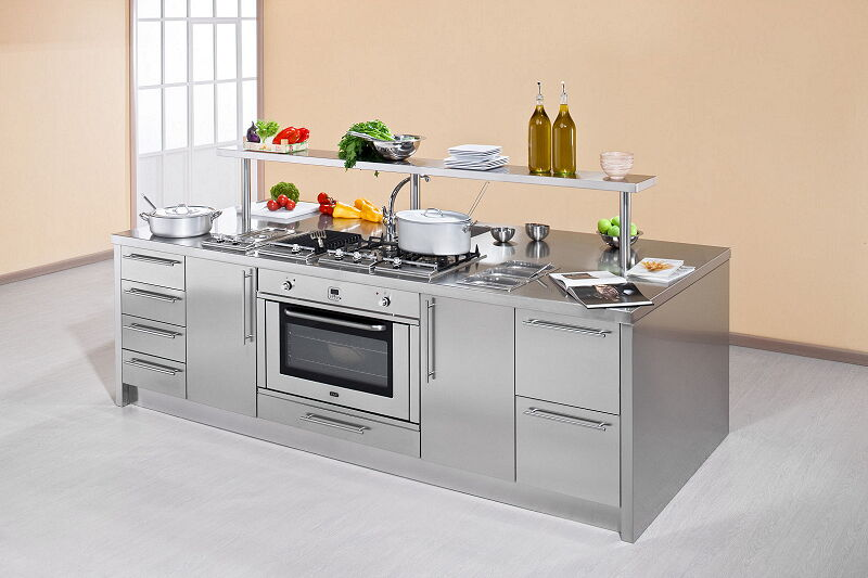 Arca Italian Kitchen Stainless Steel Kitchen Milf Workstation Inox_038w 1 1