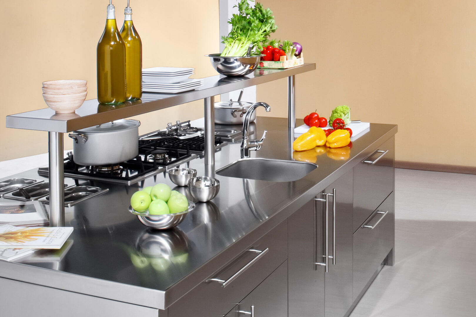 Arca Cucine Italy - Domestic stainless steel kitchens - Workstation - Wash