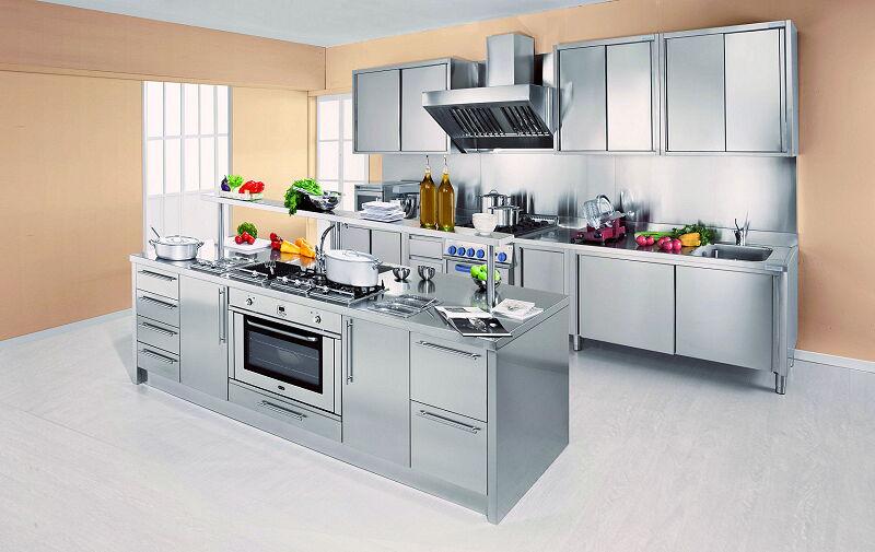 Arca Cucine Italia Cucine Domestiche Acciaio Inox Workstation Work Station Beige 1 1