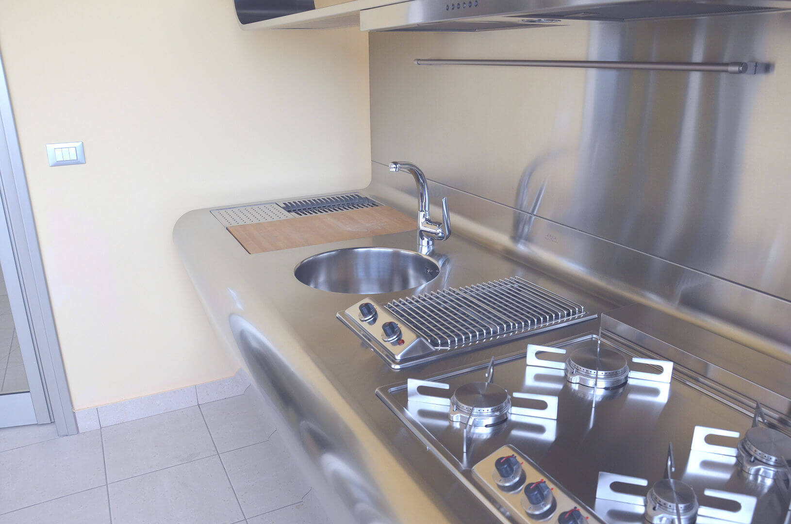 Arca Cucine Italy - Domestic stainless steel kitchens - Yacth - monoblock