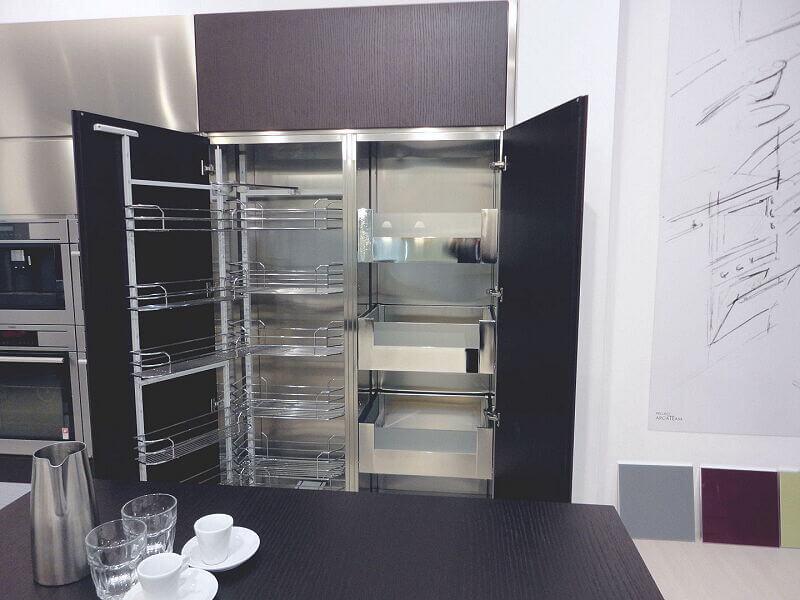 Ark Kitchens Italian Kitchens Milf Stainless Steel 0025
