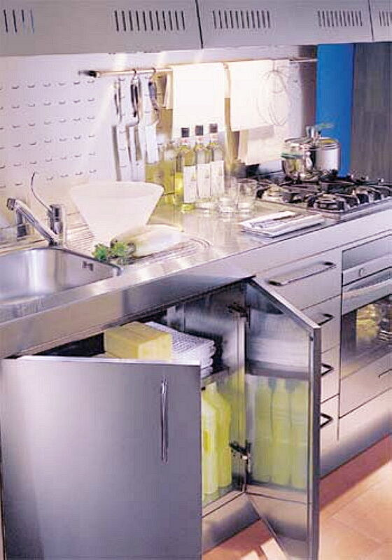 Ark Kitchens Italian Kitchens Milf Stainless Steel 04 Francesca 0002