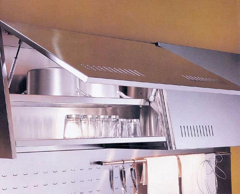 Arca Cucine Italia Cucine Domestiche In Acciaio Inox 04 Francesca 0006