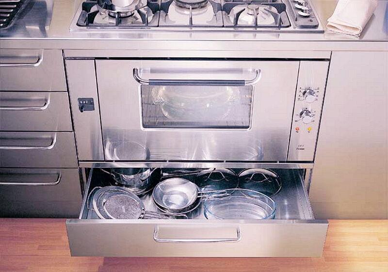 Ark Kitchens Italian Kitchens Milf Stainless Steel 06 Professional 0002