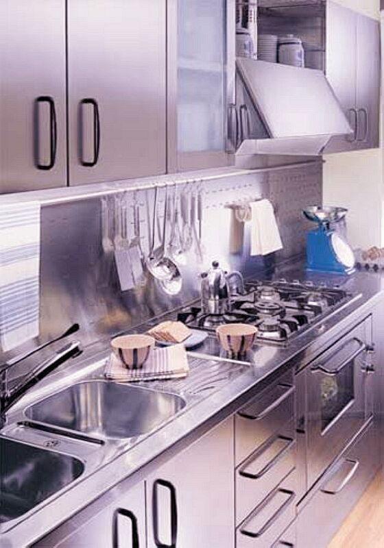 Ark Kitchens Italian Kitchens Milf Stainless Steel 06 Professional 0003