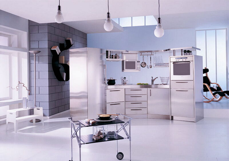 Arca Cucine Italia Cucine Domestiche In Acciaio Inox 08 Venere 0001