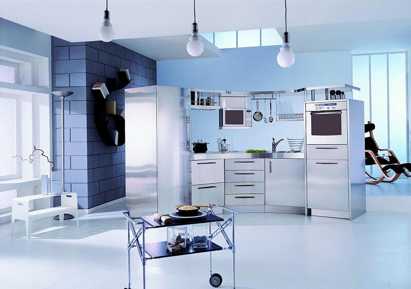 Arca Cucine Italia Cucine Domestiche In Acciaio Inox 08 Venere 0007