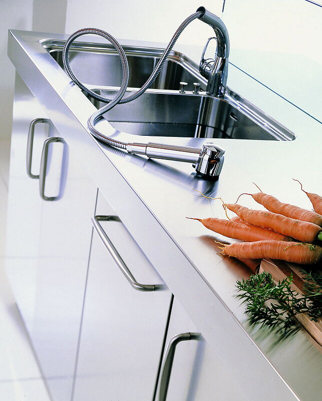 Ark Kitchens Italian Kitchens Milf Stainless Steel 09 Spring 0003