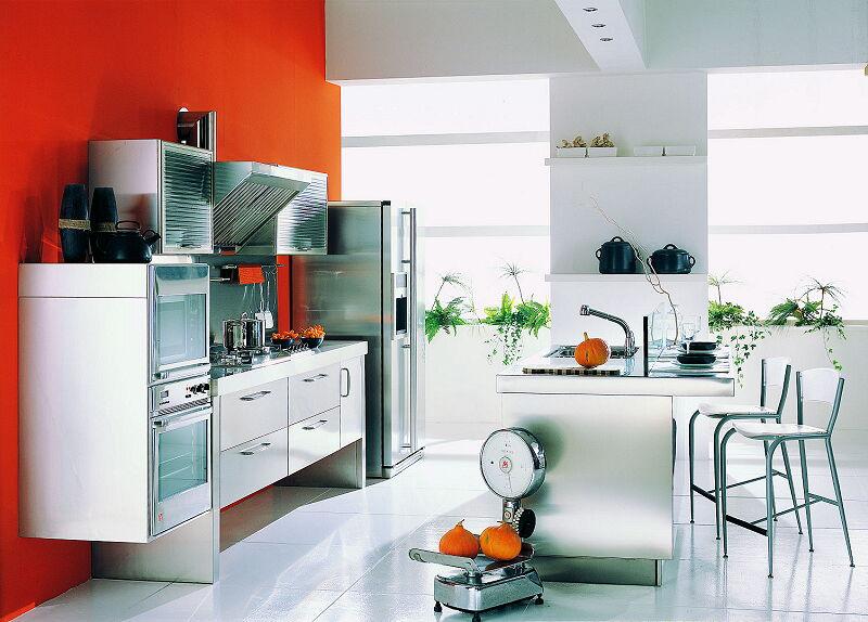 Ark Kitchens Italian Kitchens Milf Stainless Steel 09 Spring 0008