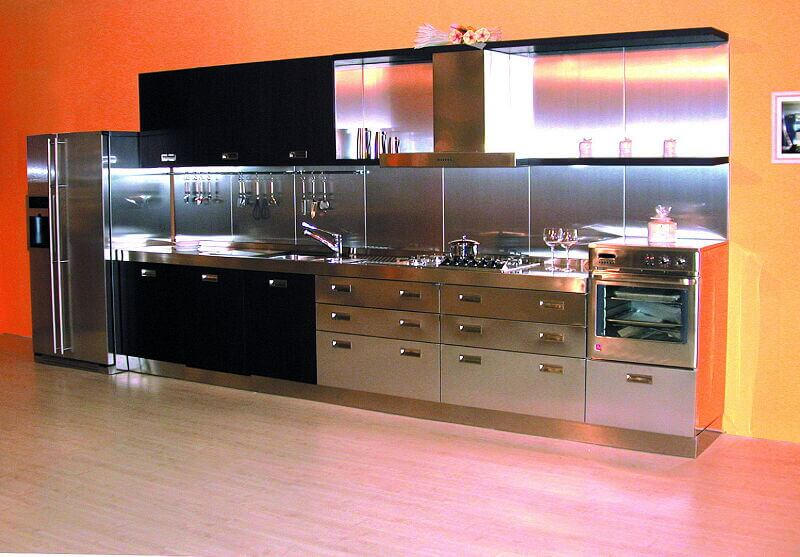 Arca Cucine Italia Cucine Domestiche In Acciaio Inox 11 Wenge 0001