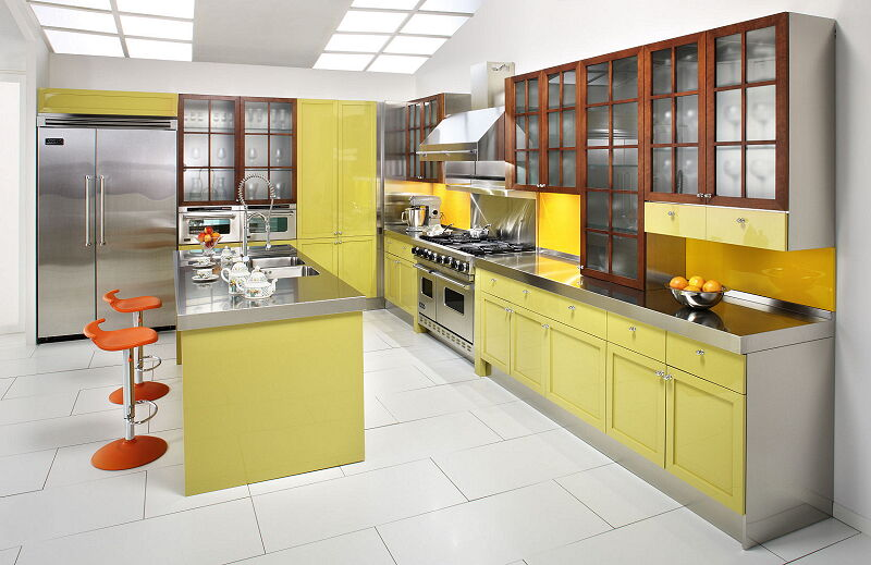Ark Kitchens Italian Kitchens Milf Stainless Steel 14 Cambridge 0002