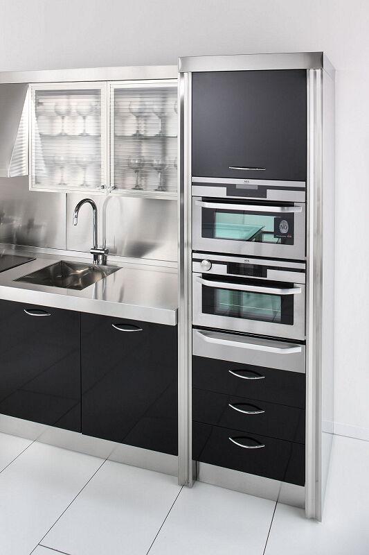 Arca Cucine Italia Cucine Domestiche In Acciaio Inox 15 Essex 0001