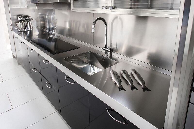 Arca Cucine Italia Cucine Domestiche In Acciaio Inox 15 Essex 0002