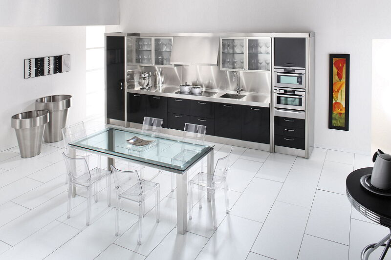 Ark Kitchens Italian Kitchens Milf Stainless Steel 15 Essex 0008