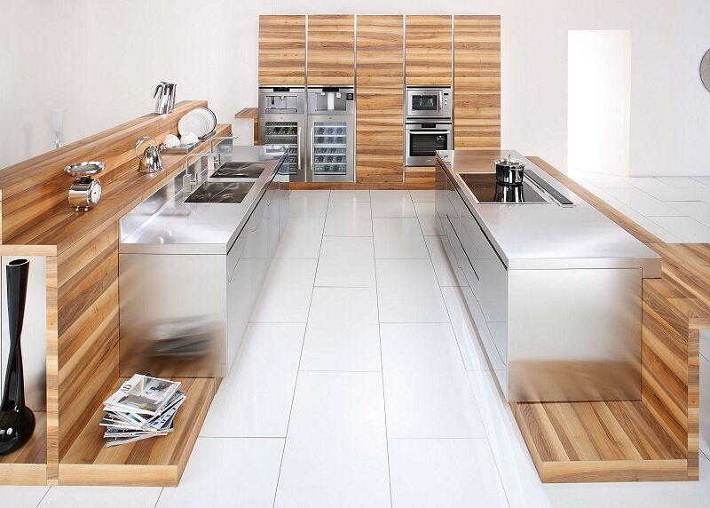 Ark Kitchens Italian Kitchens Milf Stainless Steel 16 Open 0001