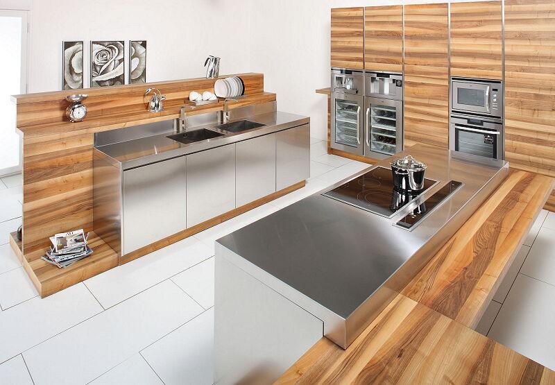 Arca Cucine Italia Cucine Domestiche In Acciaio Inox 16 Open 0002