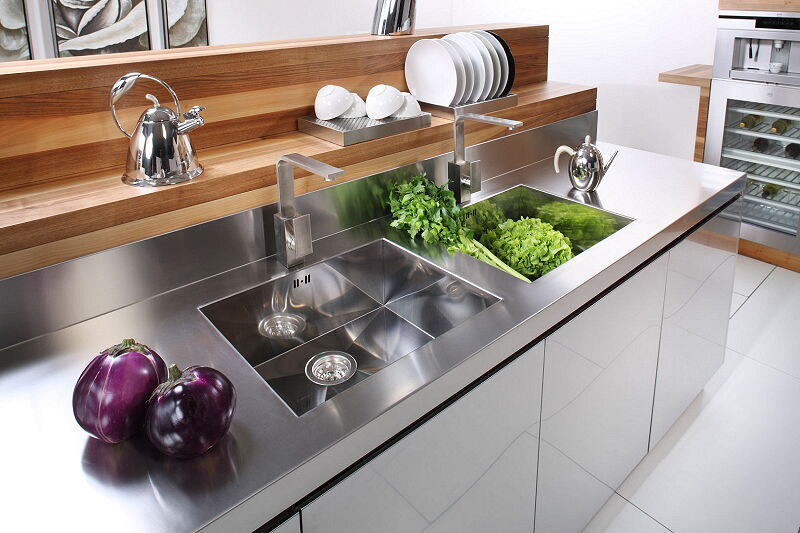 Ark Kitchens Italian Kitchens Milf Stainless Steel 16 Open 0005