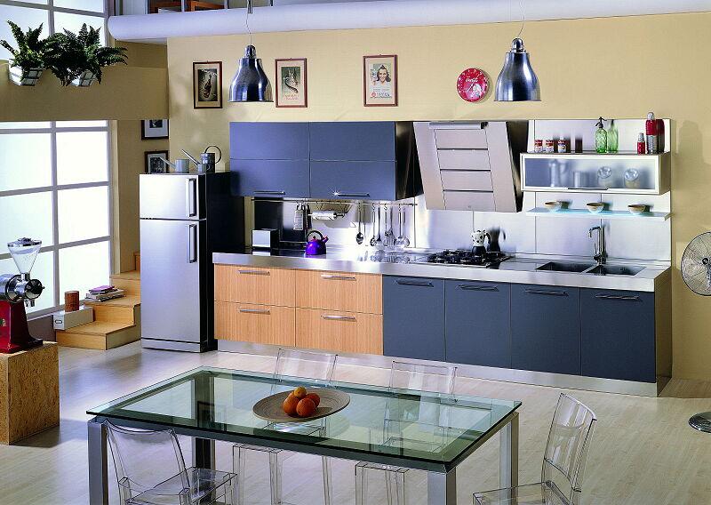 Arca Cucine Italia Cucine Domestiche In Acciaio Inox 18 Quadra 0001