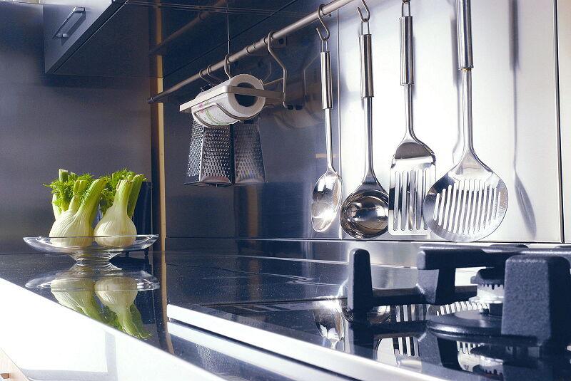 Arca Cucine Italia Cucine Domestiche In Acciaio Inox 18 Quadra 0004