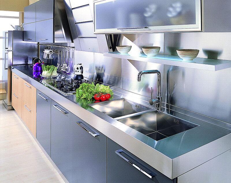Arca Cucine Italia Cucine Domestiche In Acciaio Inox 18 Quadra 0005