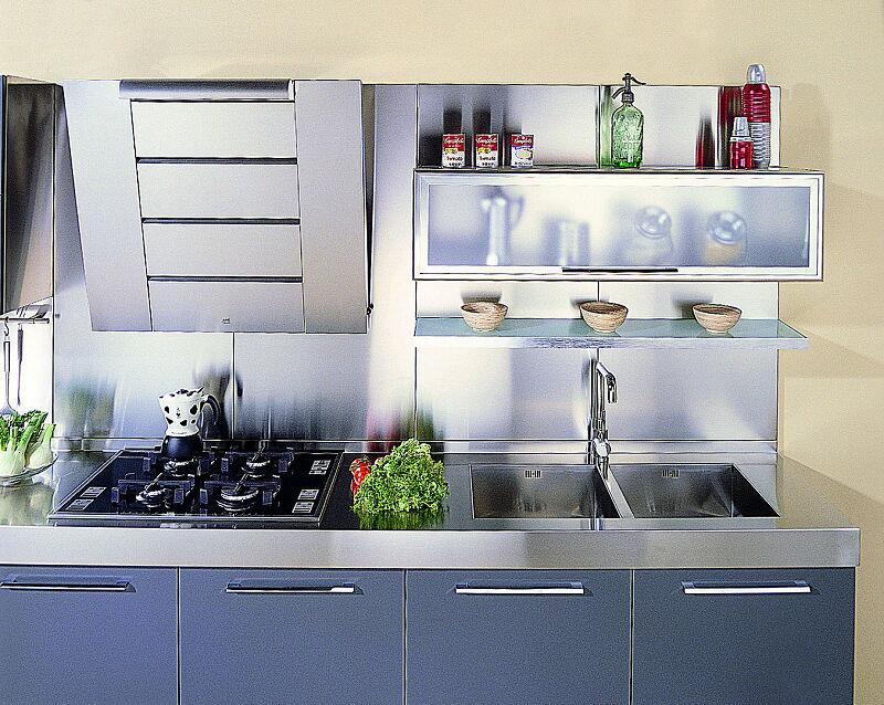Arca Cucine Italia Cucine Domestiche In Acciaio Inox 18 Quadra 0006
